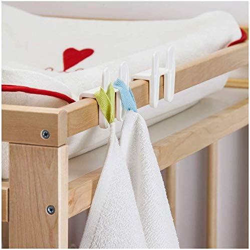 Lot de 4 Corbeilles Table /à Langer en Plastique Blanc 1 /éponge Bellini