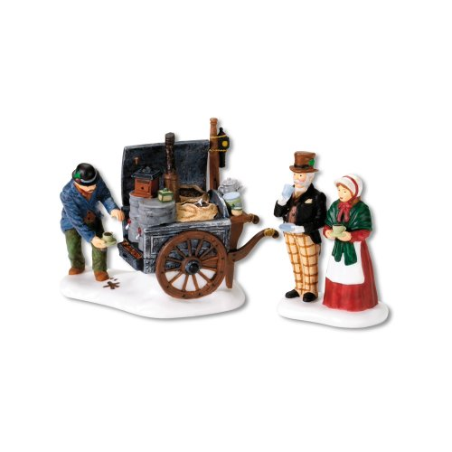 (Department 56 Dickens' Village The Coffee Stall Building and Accessory Figurine (Set of)
