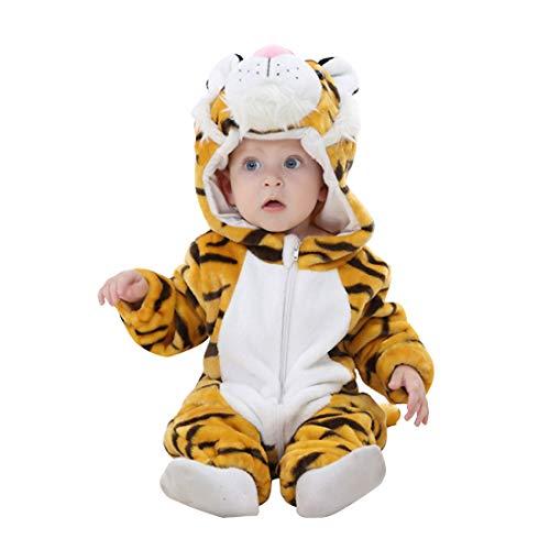 Unisex-Baby Flannel Onesies Romper Animal Pajamas Cows Baby