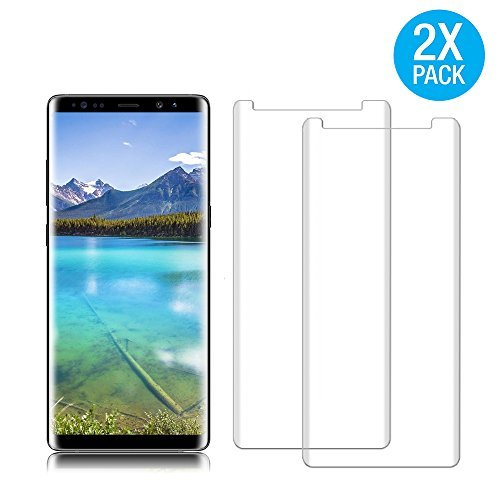 [2 Pack] Galaxy Note 8 Tempered Glass Screen Protector, Auideas [HD Clear][Anti-Bubble][Anti-Scratch][Anti-Fingerprint] Tempered Glass Screen Protector For Samsung Galaxy Note 8
