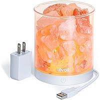 Levoit Cora Himalayan Salt Lamp, Natural Hymalain Pink...