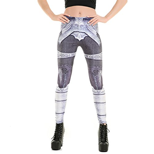 MWBAY Womens Grey Armor Leggings Sports Yoga GYM Streetnic Work Out Fitness Pants Personality Gifts