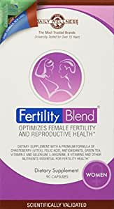 Daily Wellness Company Fertility Blend for Women -- 90 Capsules