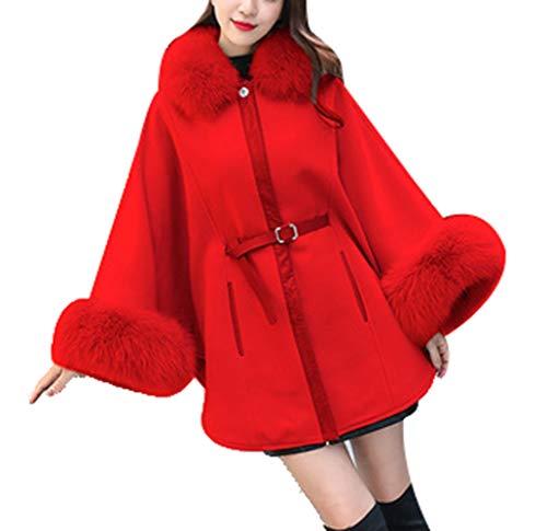 Elegante Scialle Outwear Selvaggio Adatto Nella L'autunno Big Mantello Confortevole Femminile Casual Giacca Per 1 Invernale E Cappotto Moda Red Morbido Pengyue L'inverno vqXgYn