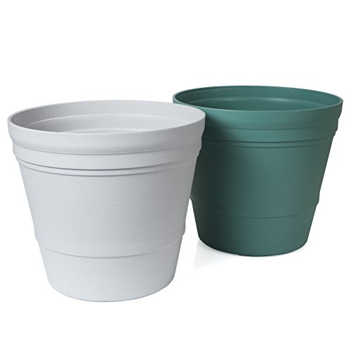 "Plant Pots Sets, Solofish 9.17"" PP Resin Round Cactus Orc..."