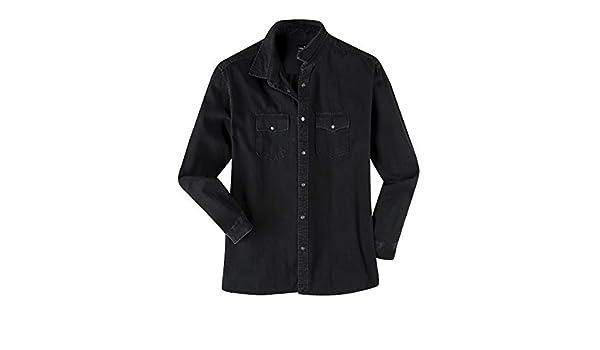 Replika Camisa Manga Larga Negra de Jean en Talla XXL, 2xl-8xl:6XL: Amazon.es: Ropa y accesorios