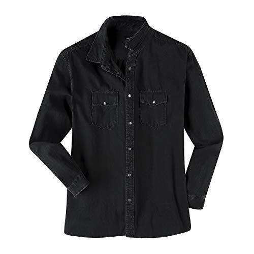 effetto Surdimensionnée nero Camicia con jeans Allsize lunghe used Replika maniche a di HUzc5Owx