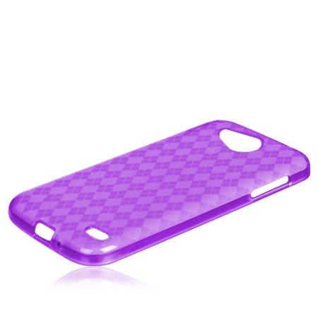 LG Optimus L70 (MS323) Purple Flexible Gel Skin TPU Case