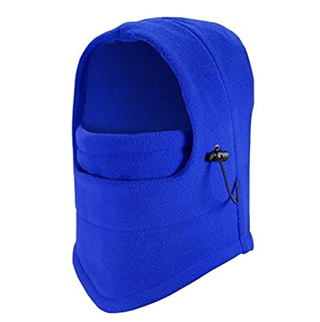 Safeinu Multipurpose Use 6 in 1 Thermal Warm Fleece Balaclava Hood Police Swat Ski Bike Wind Stopper Full Face Mask Hats Neck Warmer Outdoor Winter Sports Snowboard Proof
