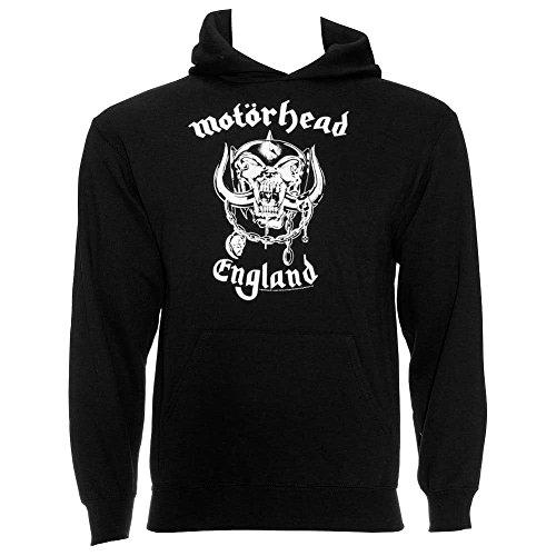 Cappuccio Classic Warpig Motorhead Felpa Uomo Logo Band Nero Con England gwaBq