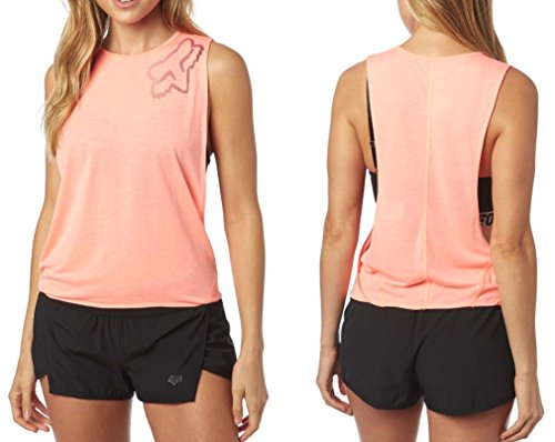 Fox Racing Perfor Sleeveless Womens Crop Tops - Melon - - Racing Crop