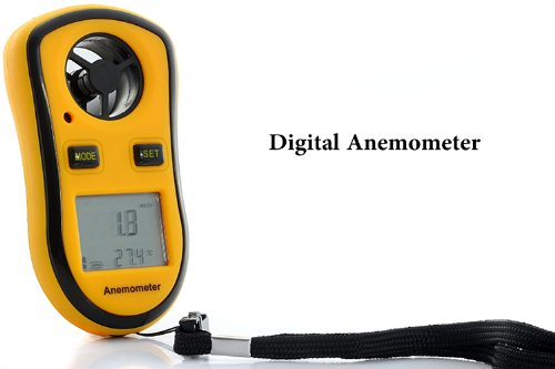 Wind Speed Meter - Digital Anemometer with Thermometer