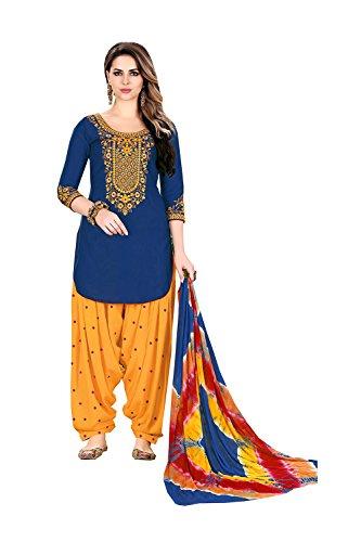 Indian Women Designer Partywear Ethnic Traditonal Blue Salwar - Replica Designer Free Shipping Clothing
