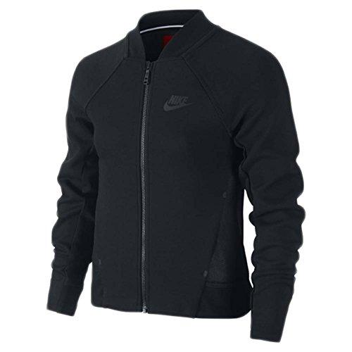 Nike Youth Girls Tech Fleece Bomber Jacket Black XL