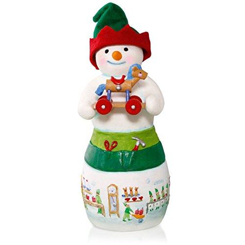 Hans K. Woodsworth Snowtop Lodge Porcelain Snowman Elf Ornament 2015 Hallmark (Snowman Hallmark)