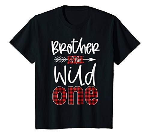 Kids Brother of the Wild One Shirt Plaid Lumberjack 1st Birthday