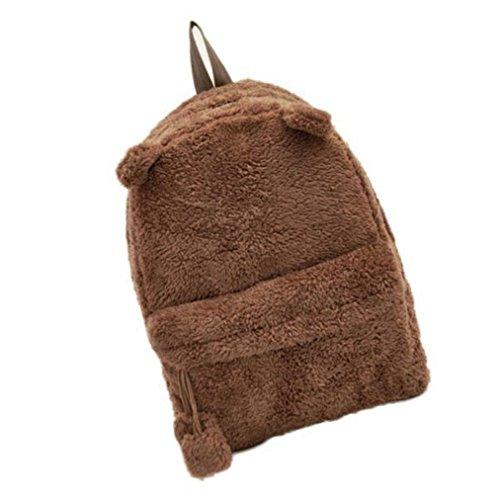 aribelly-plush-bag-rucksack-ladies-girls-backpack-handbag-cute-travel-satchel-shoulder-brown
