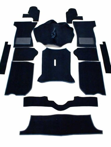 Triumph Spitfire 1300 & 1500 Complete Replacement Interior Carpet Kit High Quality -Black