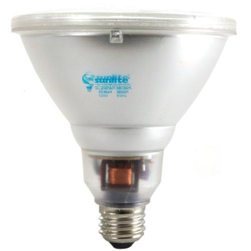 Sunlite SL20PAR38/30K 20 Watt PAR38 Energy Saving CFL Lig...