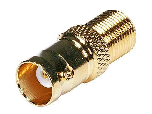 Monoprice BNC Female to F Female Adapter - Gold Plated   Transfer 75ohm Signals
