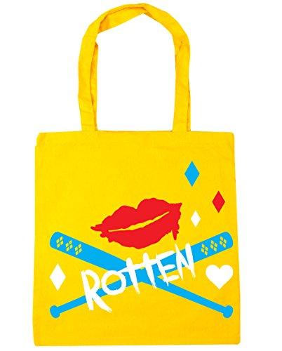 HippoWarehouse Rotten 10 Beach Yellow 42cm litres Gym Tote x38cm Bag Shopping rrR1fng