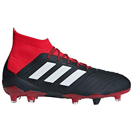 adidas Predator 18.1 Fg Black/White/Red Soccer Shoes 10