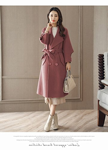 color Loose Coat Women Long Coat Fashion of a Bean Autumn It Section WYF paste and Winter Thin fqaARA