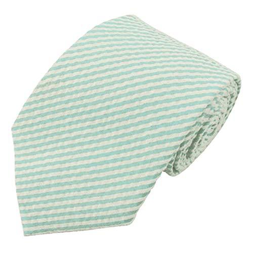 - Jacob Alexander Men's Seersucker Regular Neck Tie - Turquoise