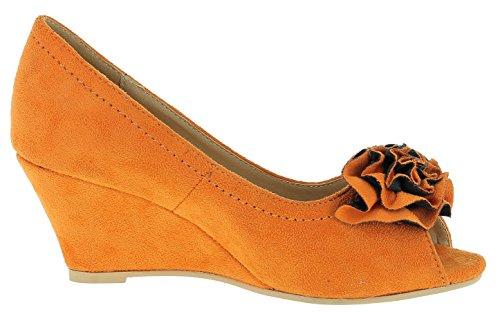 ... Andrea Conti Damen Pumps 0595410 Orange