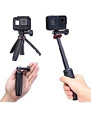 Ulanzi MT-09 Extension Pole Tripod, Mini Selfie Stick Tripod Stand Handle Grip for GoPro8 7 6 5 4 Max DJI OSMO Action Insta360 One X SJCAM Vlogging