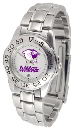 NCAA Northwestern Wildcats Ladies Gameday Sport Watch with Stainless Steel Band