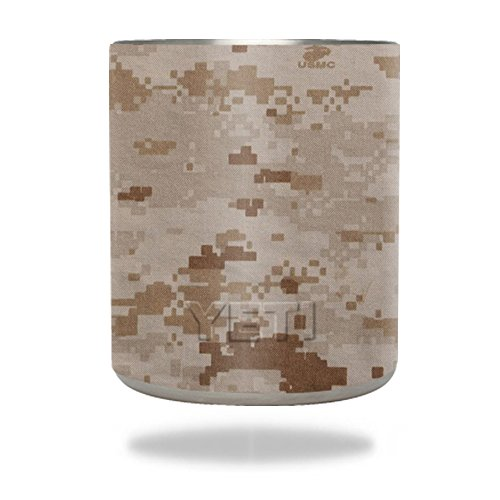 MightySkins Skin Compatible with YETI 10 oz Rambler Lowball wrap Cover Sticker Skins Desert Camo ()