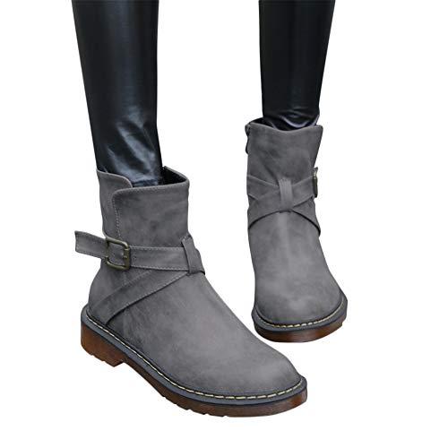 Calf Boots Snow 02 Women's up Mid 02grey Blivener Lace Winter Back Boot 1qnwz0Ap