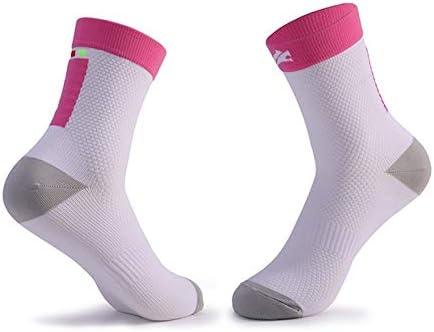 スポーツソックス 靴下 大人のスポーツソックス屋外減摩乗馬ソックスマラソンランニングソックスは快適で通気性 (Color : White red, Style : Ten pairs)