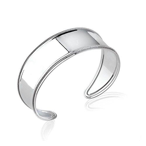 MARY JANE - Bracelet Argent Femme - Diam:57mm / Larg:57mm - Argent 925/000 rhodié (Manchette / Rigide)