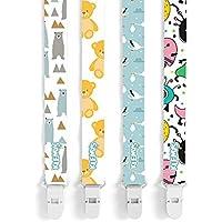 Chupete titular chupete Clips por klemys (4piezas Pack), se adapta a todos los, dentición Juguete o soothie, para las niñas y los niños