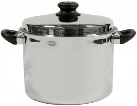Tuxton Home Reno 8 Quart Stockpot Stainless Steel, PFTE PFOA Free, Freezer to Oven Safe, Induction Compatible