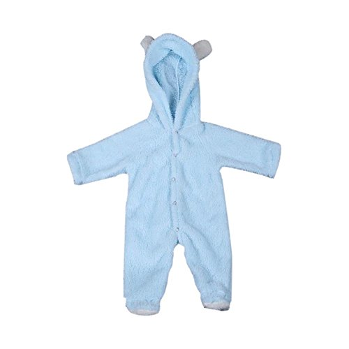 Cutelove Baby Boys Girls Cartoon Bear Hooded Romper Warm Fleece Jumpsuit Outfits