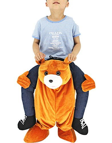 Huiyankeji Piggyback Ride On Riding Shoulder Kids Costume Easter Mascot Pants (Bear)