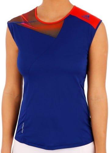 adidas Rendimiento Mujer Adizero Formotion Manga Japonesa Camisa Tenis - Azul/Rojo, Extra Chica: Amazon.es: Deportes y aire libre