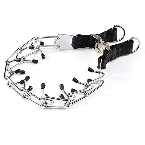 PetAZ Dog Pinch Collar Training Metal Gear Pets Prong Collar