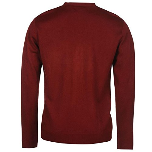 Pierre Cardin Strickjacke Herren Dark Rot Jumper Pullover Top