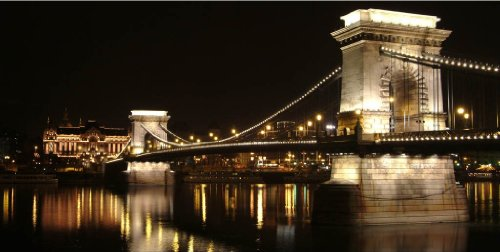 Startonight Canvas Wall Art Budapest Bridge, Cities USA Design  Home Decor, Dual View
