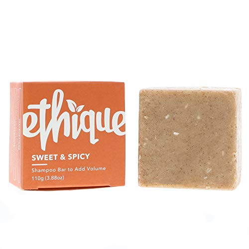 (Ethique Eco-Friendly Solid Shampoo Bar to Add Volume for Normal-Slightly Dry Hair, Sweet & Spicy 3.88 oz)