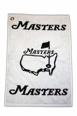 Masters Tournament Woven Towel - Green/White