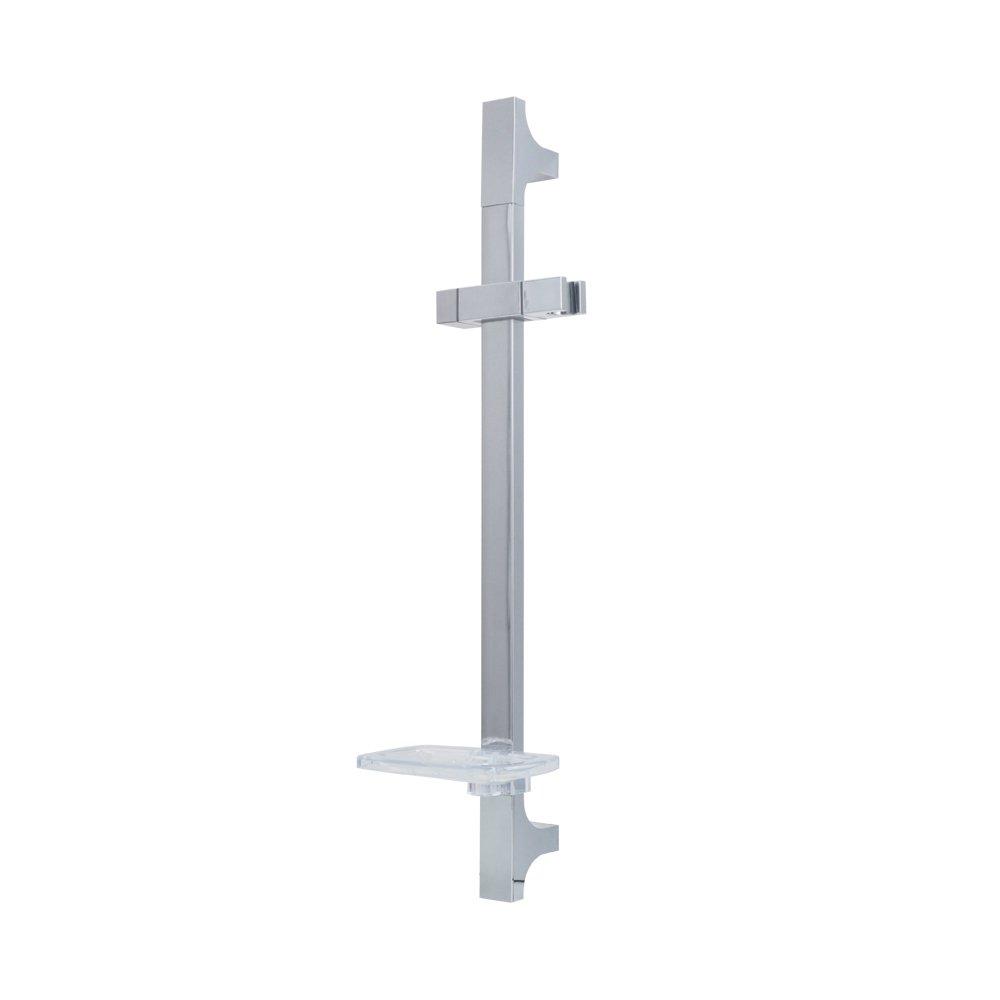 KES Bathroom Slide Bar with Soap Dish and Adjustable Handheld Showerhead Holder, Polished Chrome, F212