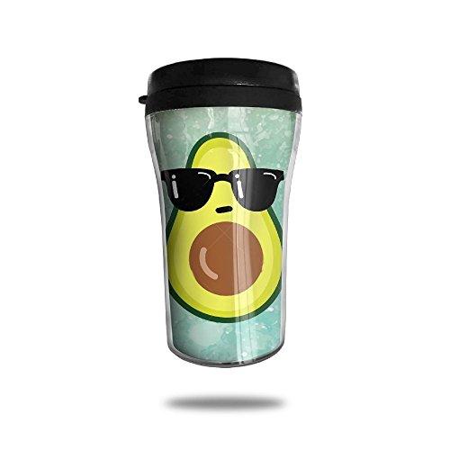 Fashion Travel Mugs- Funny Cup With Funny Avocado With Black Sunglasses - No Printed Sunglasses Minimum