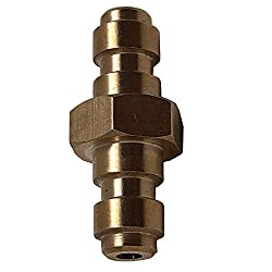 IORMAN Original Double Male Quick-Disconnect Coupling Adaptor Copper Air Fill Station Tool Fittings for PCP Airsoft Air Gun Foster Paintball