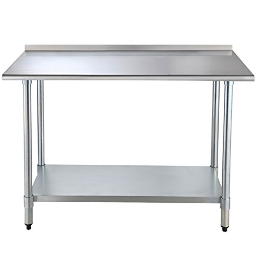 "Alera Industrial Kitchen Carts At Lowes Com: IPyarmid 24"" X 48"" Stainless Steel Work Prep Table With"
