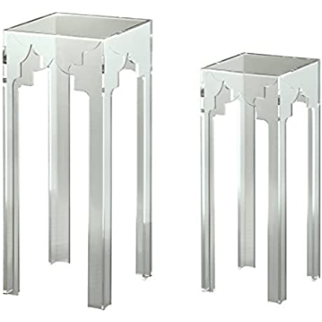 Coast To Coast Lucite 2 Piece Square Nesting Tables